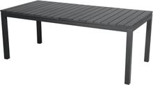 Desa havebord, inkl. 2 tillægsplader L 200-300 cm sort/sort.