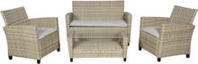 Cissy loungemøbel sofasæt, inkl. hynder natur,beige.