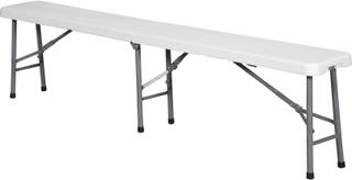 Fie klapbænk foldbar grå/hvid.