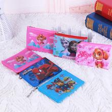 Disney Frozen Spider-Man Dog Patrol women Coin Purse Cartoon Coin Purse mini bag kids purses small bag baby girl purse