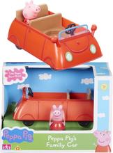 Peppa Gris familiebil med figur