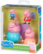 Peppa Gris familiepakke- 4 figurer