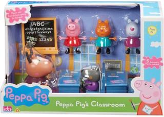Peppa Gris lekesett- Klasserom med 5 figurer