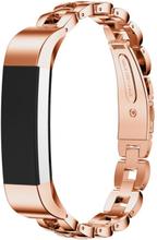 Fitbit Alta solid lenket klokkereim av rustfritt stål - Rosa