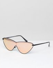 1d227df106e1b ASOS Metal Extreme Cat Eye Sunglasses with Rose Gold Flash Lens - Rose gold