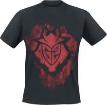 G2 Esports - Logo - Splatter -T-skjorte - svart
