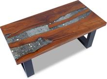vidaXL Kahvipöytä Tiikki Hartsi 100x50 cm