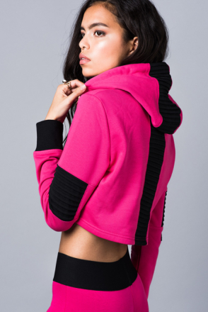 Underground Pink Hoodie (Storlek: L)