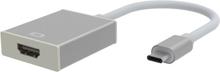 Universal USB Type-C To Hdmi Converter Kabel - Sølv