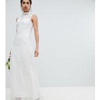Amelia Rose - maxiklänning med heltäckande utsmyckning - Vit