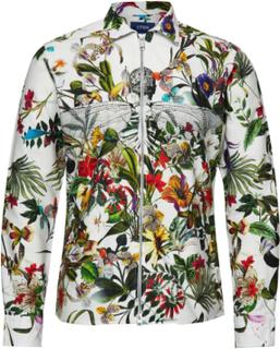 Floral Zipper Shirt Överskjorta Multi/mönstrad ETON