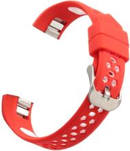 Fitbit Alta Dual-Color Hollow Silikon Klokkereim - Rød + Hvit