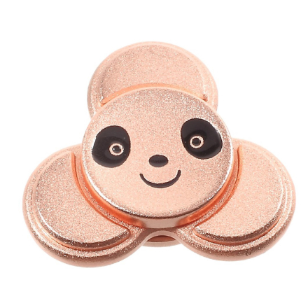 EDC cute panda shape Tri-Spinnerspinner Fidget Spinner- Rose Gold