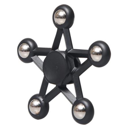 Five-pointed star steel Fidget Spinner- Black