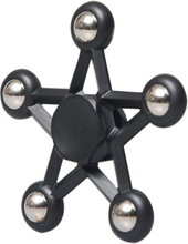 Five-Pointed Star Steel Fidget Spinner- Svart