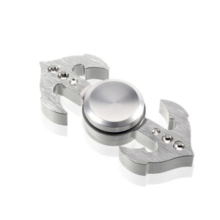 EDC Anchor shape aluminum Fidget Spinner- Silver