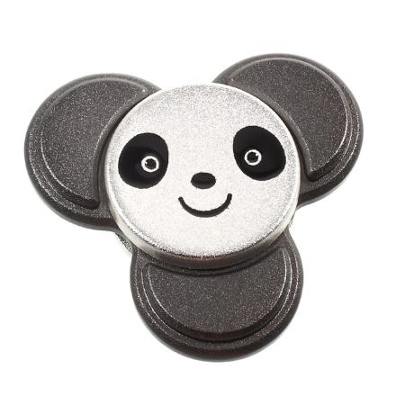 EDC cute panda shape Tri-Spinnerspinner Fidget Spinner- Black