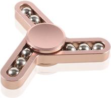 Edc 9 Steel Balls Tri-Spinnerspinner Fidget Spinner- Rose Gull