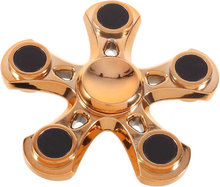 Pentagon pattern Fidget Spinner- Gold