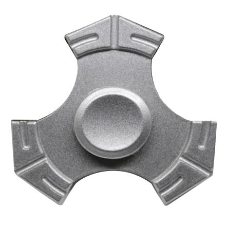 EDC kirsite Tri-Spinnerspinner Fidget Spinner- Silver