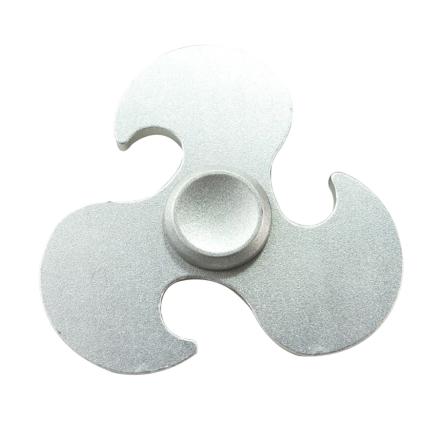 EDC Hot wheels pattern Tri-Spinnerspinner Fidget Spinner- Silver
