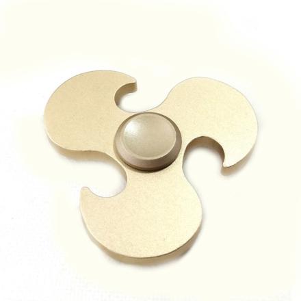 EDC Hot wheels pattern Tri-Spinnerspinner Fidget Spinner- Gold