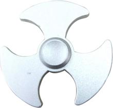 Edc Axe Mønster Aluminiumslegering Tri-Spinnerspinner Fidget Spinner- Sølv