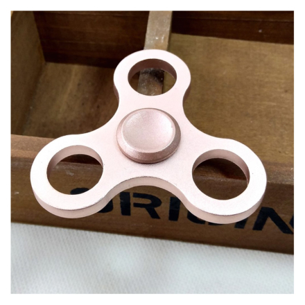 EDC aluminum alloy Tri-Spinner spinner Fidget Spinner- Rose Gold