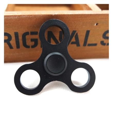 EDC aluminum alloy Tri-Spinner spinner Fidget Spinner- Black