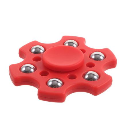 Small metal balls hexagon Fidget Spinner- Red