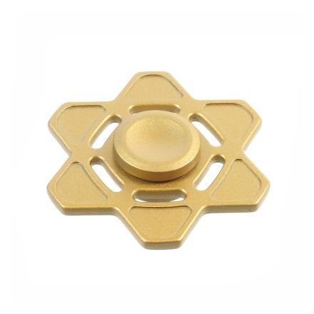 Six-pointed star pattern Fidget Spinner- Gold