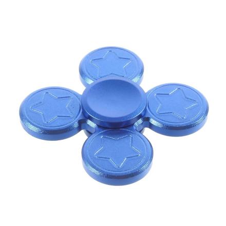 Five-pointed star shape quadrangle Fidget Spinner- Blue