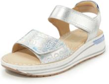 Sandaler coolt folietryck från ARA silver