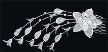 Hårsmycke Större Smycke med blommor och kristaller