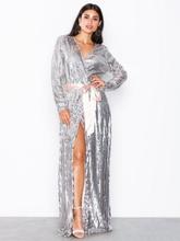 NLY Eve Wrap Sequin Gown Paljettklänningar