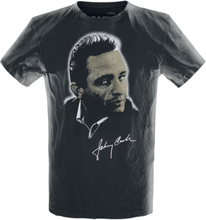 Johnny Cash - Portrait -T-skjorte - svart, hvit