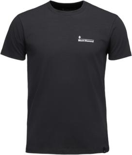 Black Diamond Diamond Line Tee Men black M 2019 T-skjorter kortermet