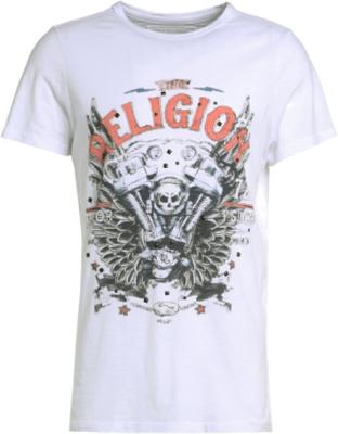 True Religion MOTORBLOCK Tshirt med tryck white