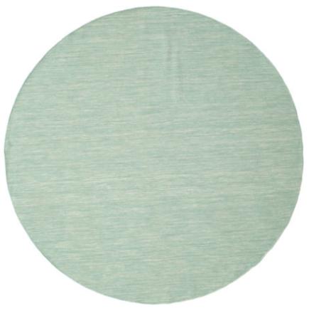 Kelim loom - Mint Grön matta Ø 250 Modern, Rund Matta