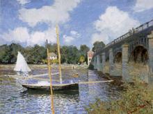 The Road Bridge At Argenteuil,claude Monet,60x79.7cm