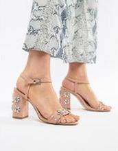 ca515fa0c96 Miss KG - Shimmer - Dekorerade sandaler med klack - Beige