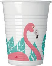 8 stk Plastkrus 200 ml - Flamingo