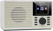 """DR-160 BT DAB+/FM radio USB AUX 2.4"""" TFT-display fjärrkontroll vit"""