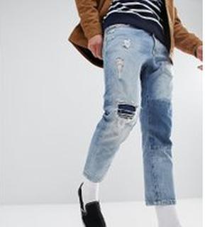 Just Junkies - Korta jeans med lapp - 544 spring blue