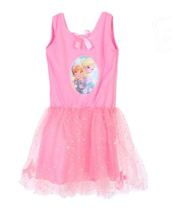 Rosa klänning med tyll från Frost - Maskeradkläder för barn