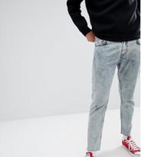 Just Junkies - Avsmalnande jeans i stentvätt - 552 acid blue