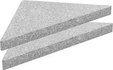 vidaXL Parasoll viktplatta granit 15 kg triangulär grå