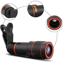 HD 12x Optical Zoom Camera Telescope Lens With Clip For iPhone/For Phone Univers