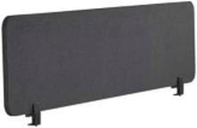 Beliani Avskärmning För Skrivbord 160 X 40 Cm Mörkgrå Wally