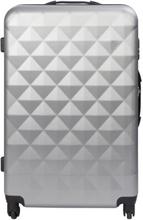 Stor kuffert - Diamant grå hardcase kuffert - Eksklusiv rejsekuffert